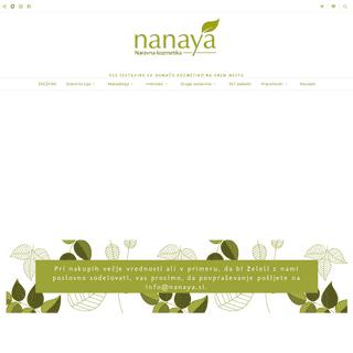 Nanaya - vse sestavine za kozmetiko na enem mestu