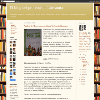 El blog del profesor de Literatura