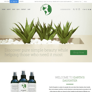 Earth's Daughter aloe vera gel and natural beauty products – EarthsDaughter