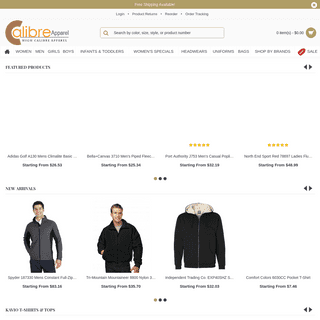 Calibre Apparel - Discounted Apparel and Clothing