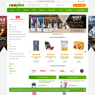 Pet Shop, Pet Food, and Pet Products on Sale Now at zooplus Ireland