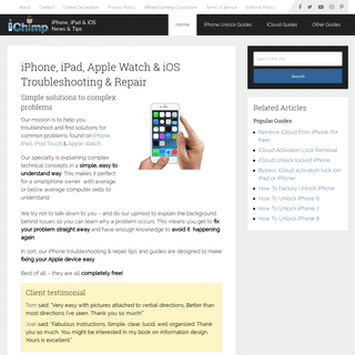 iPhone Troubleshooting (Includes iPad, iOS & Apple Watch)