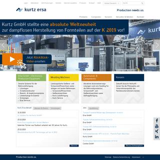 Kurtz Ersa - Electronics Production Equipment, Moulding Machines