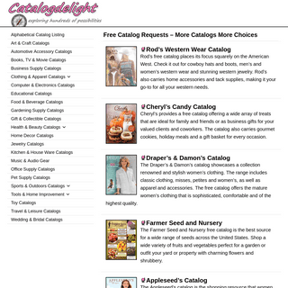 Free Catalogs - More Catalogs More Choices