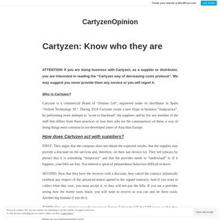 CartyzenOpinion