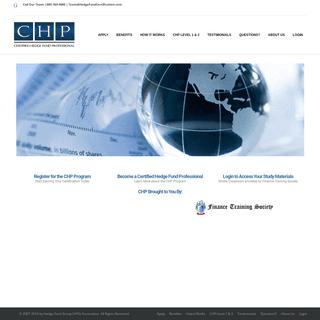 Hedge Fund Certification