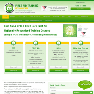 CBD College - First Aid Training Melbourne - CPR First Aid Course