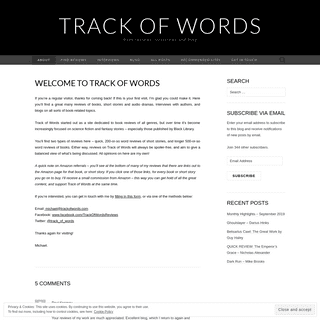 Track of Words – Book reviews, interviews and blog