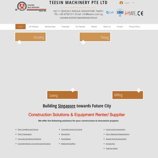 Construction Machinery Supplier - Teesin Machinery Pte Ltd - Singapore