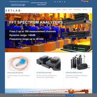 Digital sensors, ADC, measurement equipment, ZETLAB