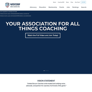 United Soccer Coaches - Uniting Coaches Around the Love of the Game.