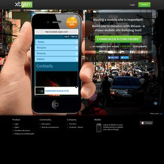 XtGem.com — Outil visuel de la création des sites mobiles