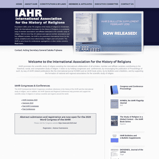 International Association for the History of Religions (IAHR)
