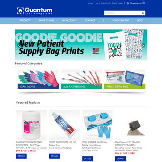 Patient Zipper Bags, Bulk Toothbrushes and Exam Gloves - Quantum Labs