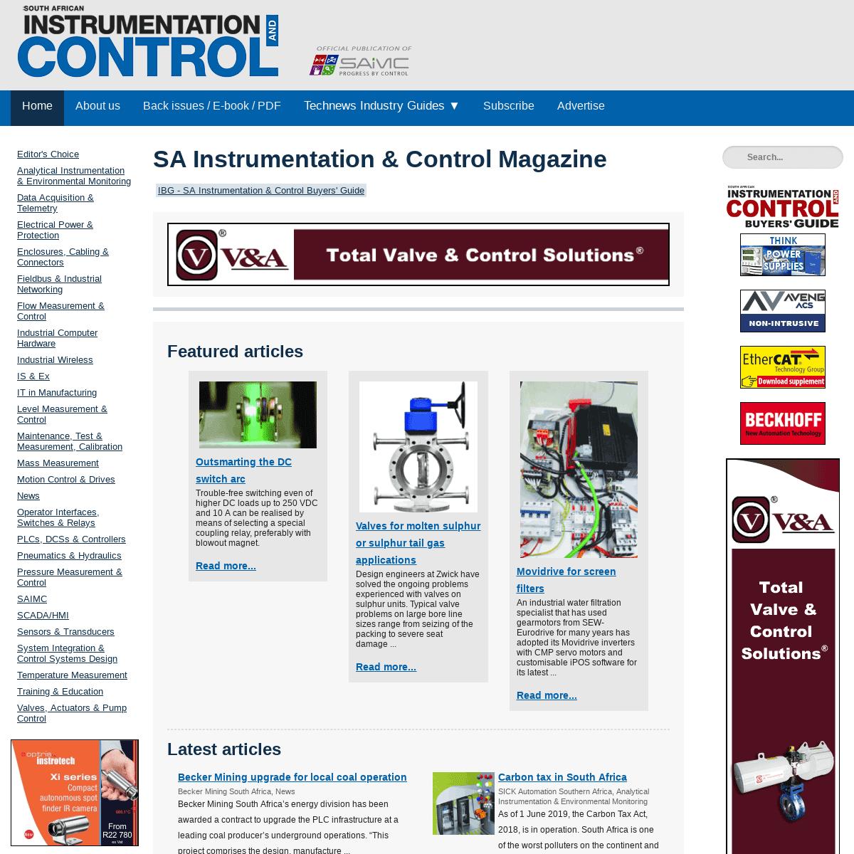 SA Instrumentation & Control