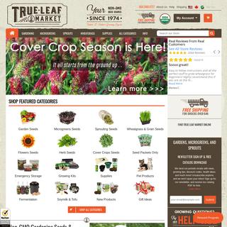 True Leaf Market Seed Company - Buy Non-GMO, Heirloom, Organic Seeds