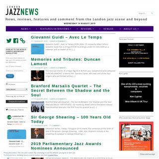 News, reviews, features and comment from the London jazz scene and beyond