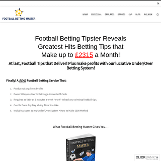 Football Betting System, Tips & Predictions