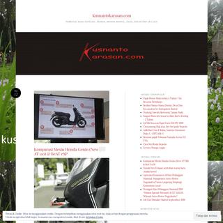 Kusnantokarasan.com - Personal Blog tentang ; Sepeda, Motor, Bantul, Jogja, Sawah Dan Apa Saja