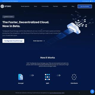 Decentralized Cloud Storage — Storj