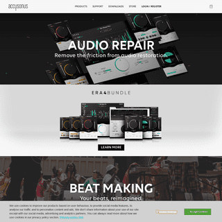 Audio plug-ins and software for music and post production - accusonus