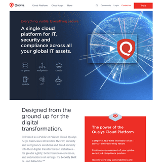Information Security and Compliance - Qualys, Inc.