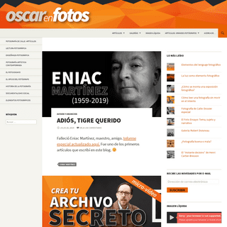ArchiveBay.com - oscarenfotos.com - Oscar en Fotos - Reflexiones e ideas en torno a la fotografía