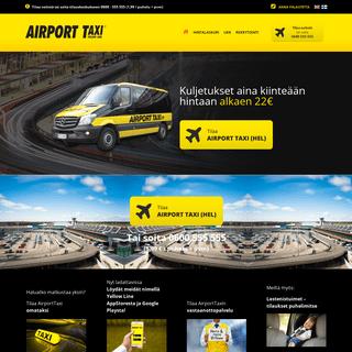 Airport Taxi - Edullisia lentokenttäkuljetuksia jo vuodesta 1992