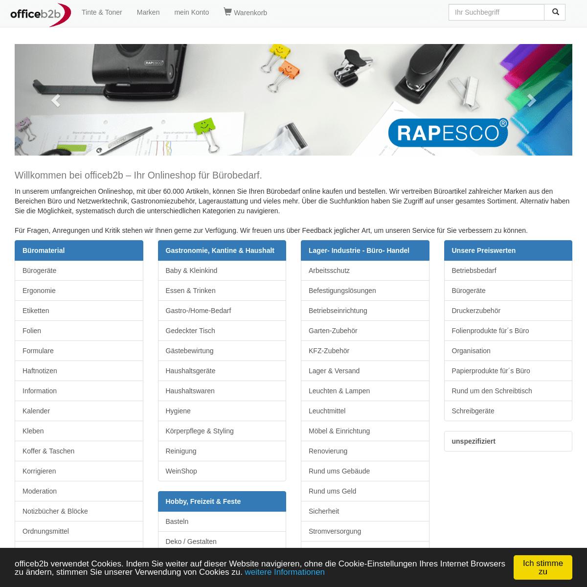 Bürobedarf online günstig kaufen - Büroartikel bei officeb2b