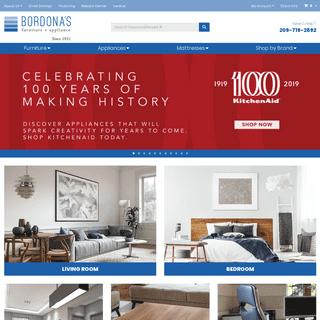 Furniture, Appliances in Oakdale, Modesto and Turlock CA - Bordona's
