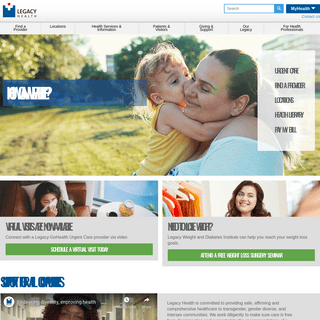 ArchiveBay.com - legacyhealth.org - Legacy Health - Hospitals and clinics in Oregon and Washington
