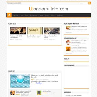 Wonderfulinfo - Wonderful - Valuable Info and Lovely Photos