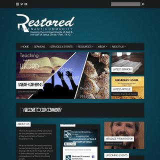 Restored Covenant Community - Messianic Congregation