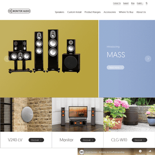Monitor Audio - Hi-Fi, Cinema & Architectural Speakers