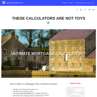 Financial Calculators - These calculators are not toys