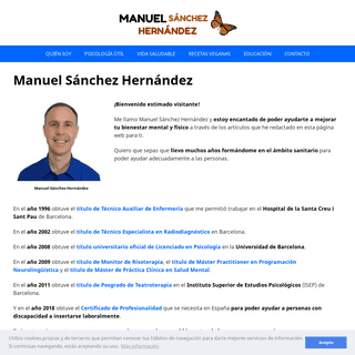 Manuel Sánchez Hernández - Psicología útil y vida saludable