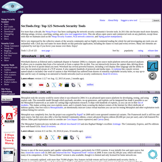 SecTools.Org Top Network Security Tools