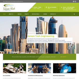 Welcome To Green Tech Solutions – Electro Mechanical Contracting & Facility Management