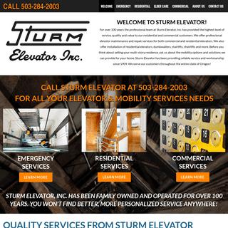 STURM ELEVATOR RESIDENTIAL AND COMMERCIAL PORTLAND OREGON - Elevator Installation, Repair, Modernization, Inspection, Certificat