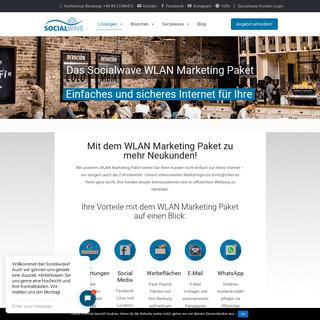 Das Socialwave WLAN Marketing Paket - einfach & sicher - Socialwave