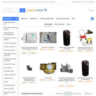 Irrigation Online - Hortech Systems Ltd for all irrigation systems and watering system needs