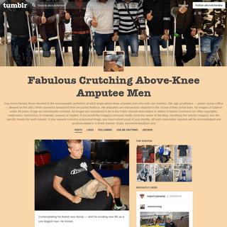 Fabulous Crutching Above-Knee Amputee Men