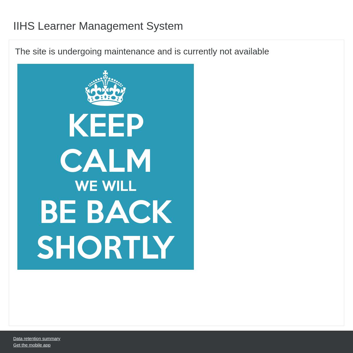 ArchiveBay.com - iihs.edu.lk - IIHS Learner Management System - In maintenance mode