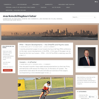 ArchiveBay.com - markmckillopbarrister.com - markmckillopbarrister – Commentary on insolvency, banking and commercial law. Musings on cycling, running, triathlon and good