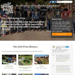 Lush Spring Prize- for social and environmental regeneration