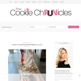 The Cookie ChRUNicles - Running through life while balancing healthy eating and single motherhood
