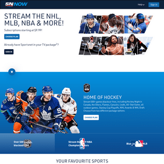 Sportsnet NOW is your access 24-7 live sports online in Canada