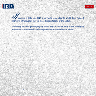 Welcome to IRB Infrastructure Developers