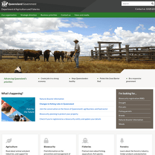 Department of Agriculture and Fisheries, Queensland - Department of Agriculture and Fisheries, Queensland