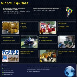 Equipos y Maquinarias - Sierra Chile